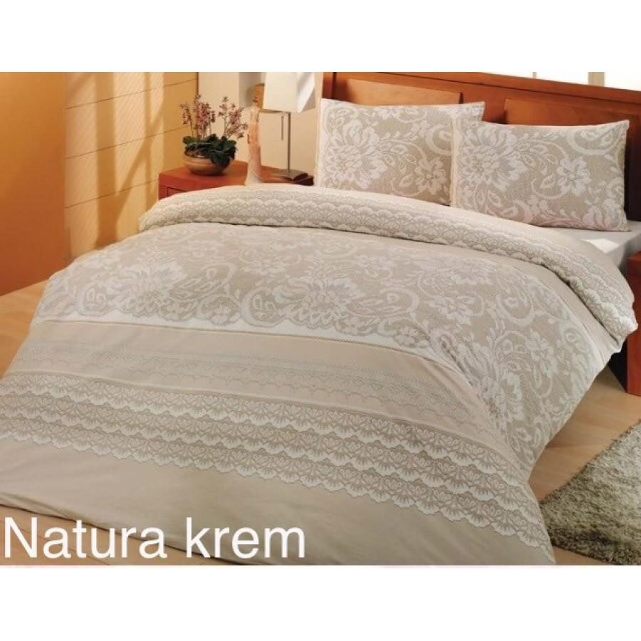 Постільна білизна Altinbasak ранфорс 160x220 Natura Krem