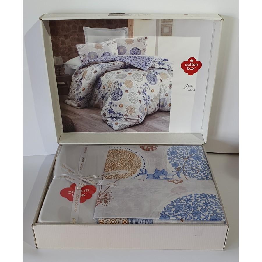 Постільна білизна Cotton Box ранфорс 200X220 Lola Mavi