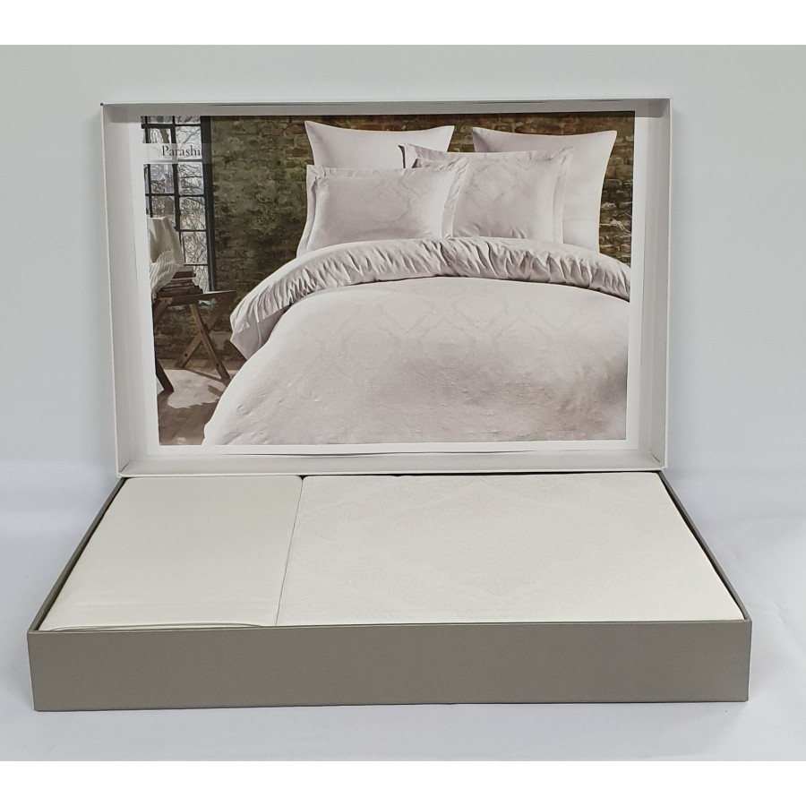 Постільна білизна Dantela сатин-жакард 200x220 Parashi Beyaz