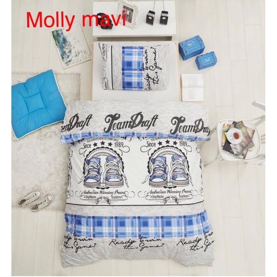 Постільна білизна Altinbasak ранфорс 160x220 Molly mavi