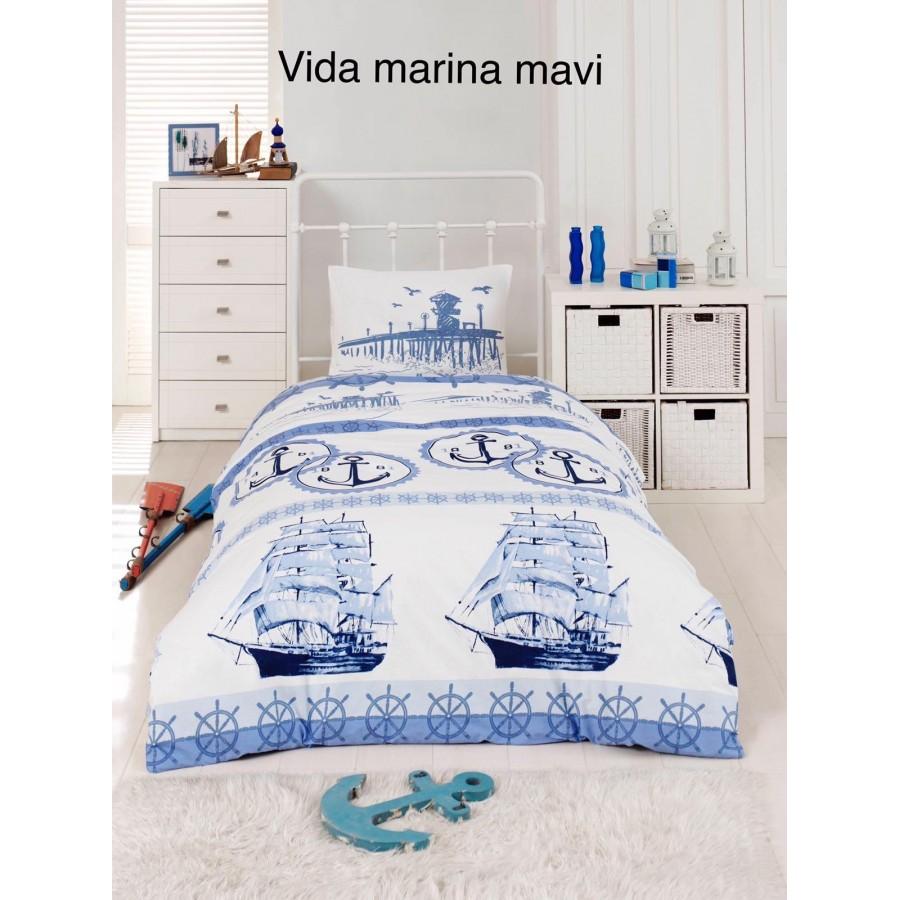 Постільна білизна Altinbasak ранфорс 160x220 Vida marina mavi