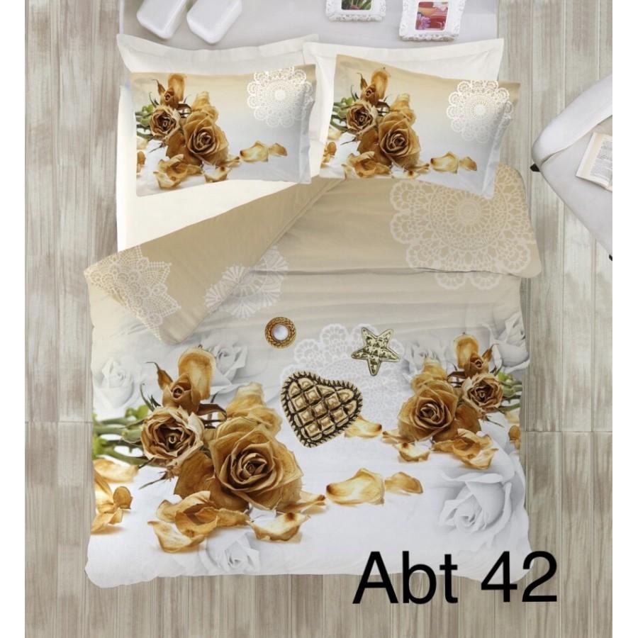 Постільна білизна Altinbasak 3D сатин 200x220 Abt 42