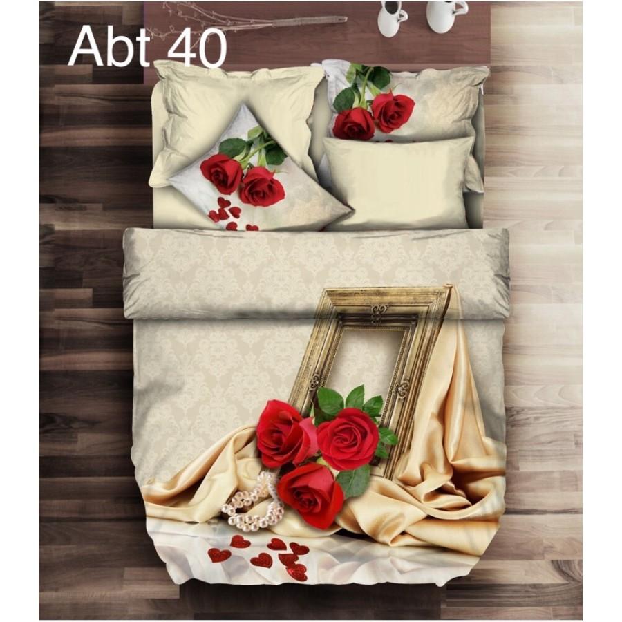 Постільна білизна Altinbasak 3D сатин 200x220 Abt 40
