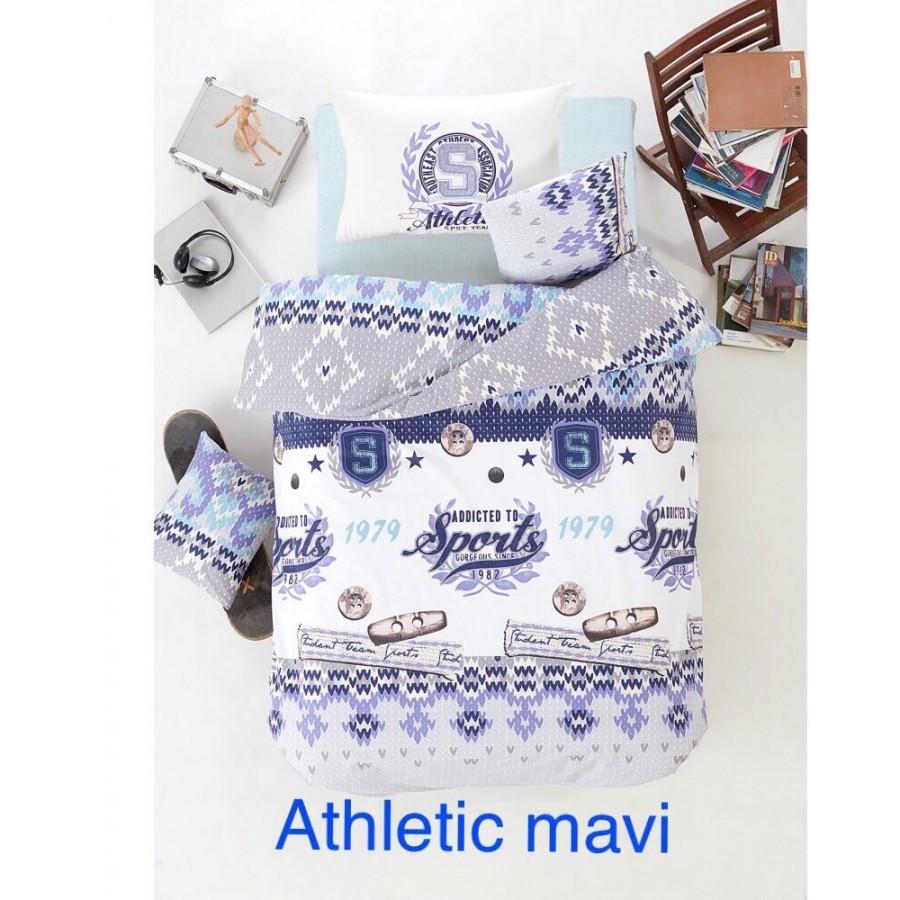 Постільна білизна Altinbasak ранфорс 160x220 Athletic mavi