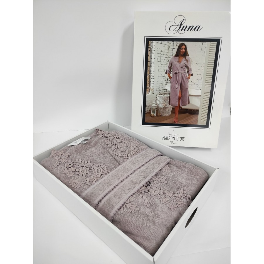 Халат жіночий Maison D'or Anna Dark Lilac S