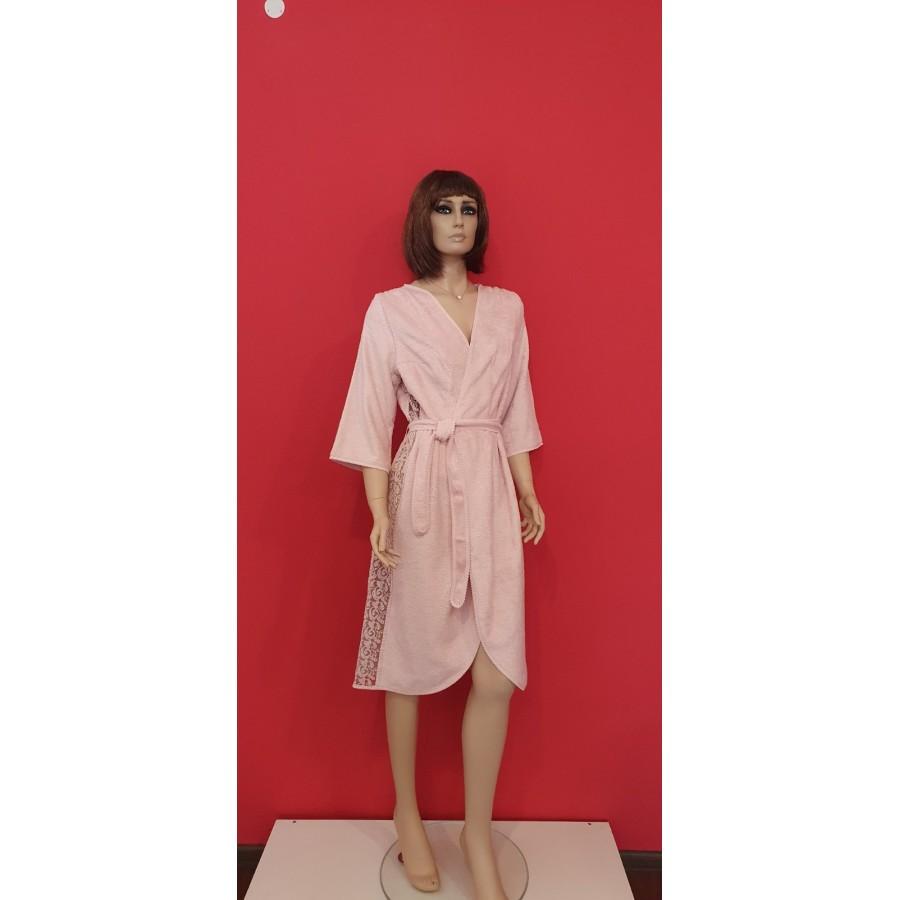 Халат жіночий Maison D'or Felisiya Брудно-рожевий L