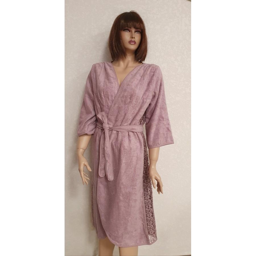 Халат жіночий Maison D'or Felisiya Фіолетовий M