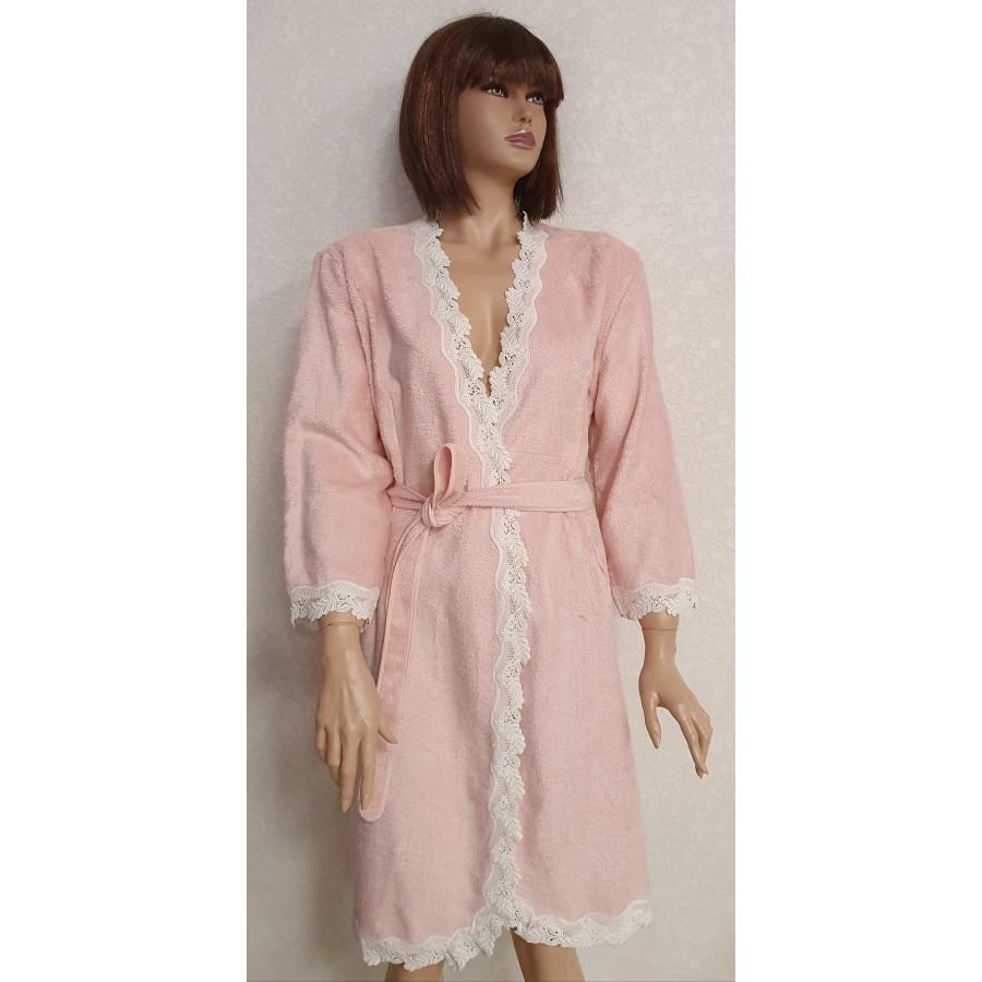 Халат жіночий Maison D'or Dina Pink S