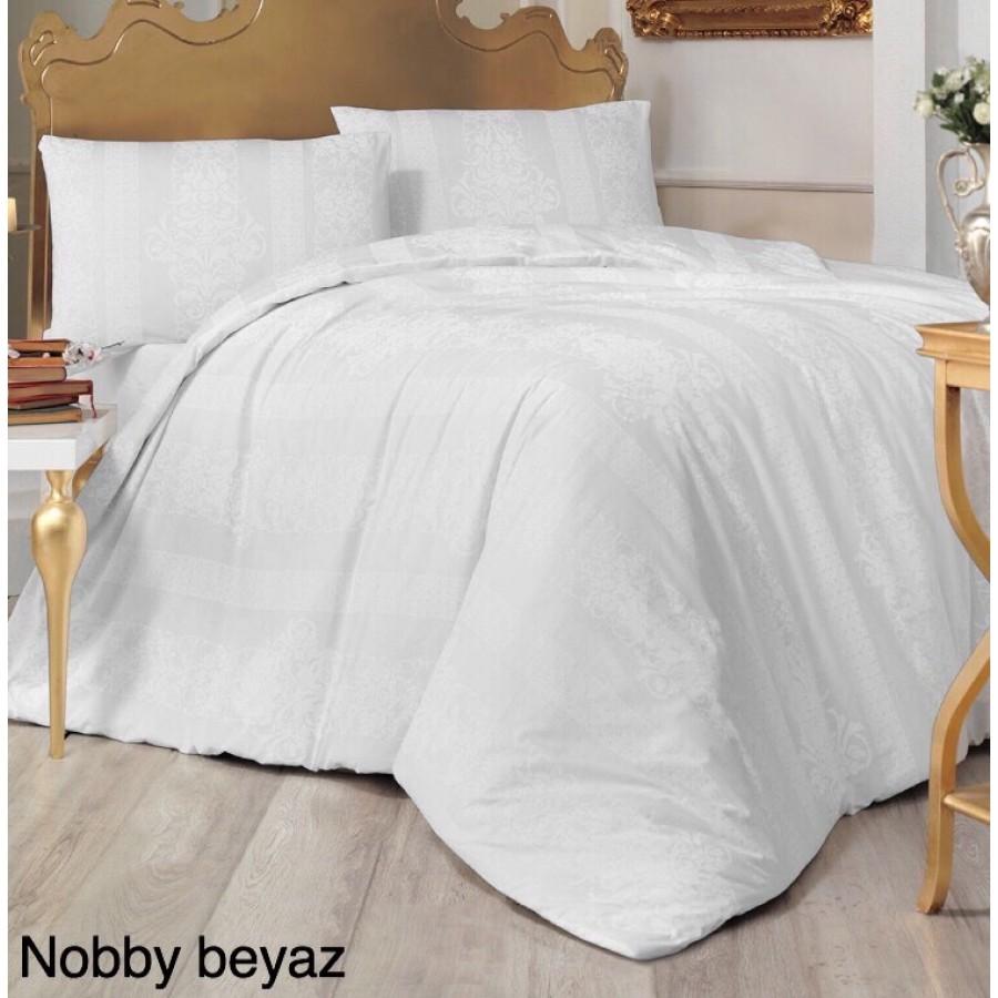 Постільна білизна Altinbasak ранфорс 160x220 Nobby Beyaz