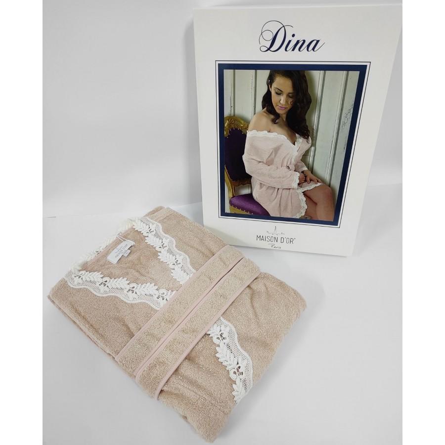 Халат жіночий Maison D'or Dina Beige L