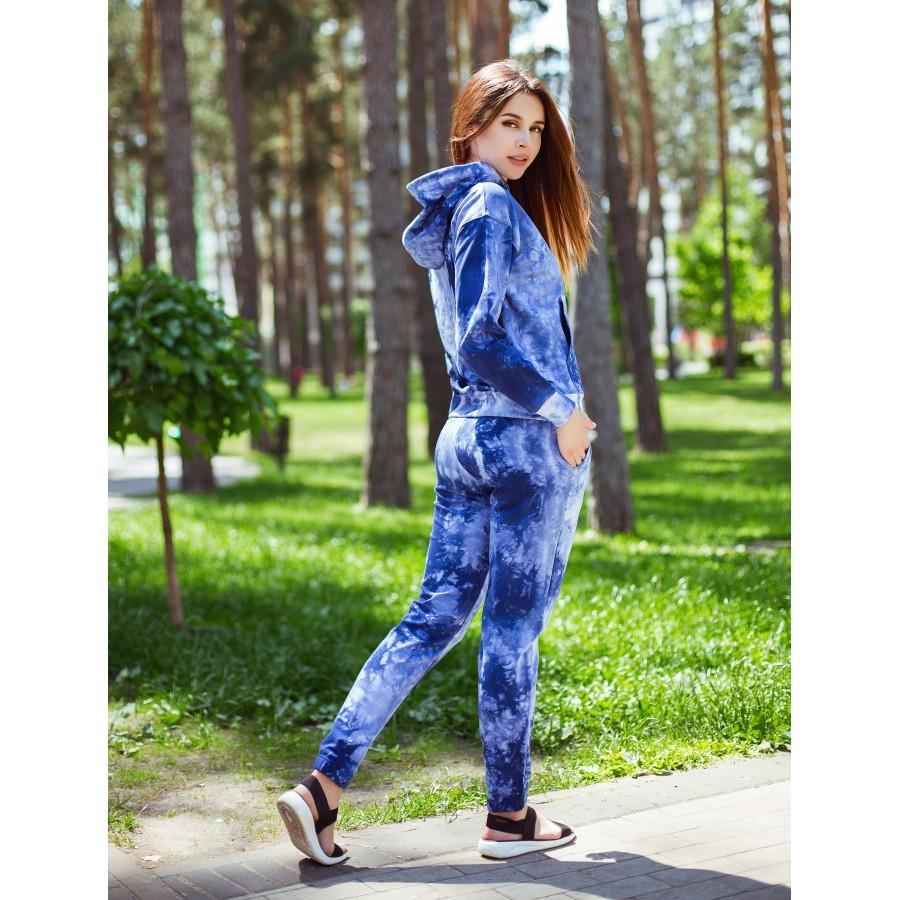 Костюм К-М-3 синій tie-dye